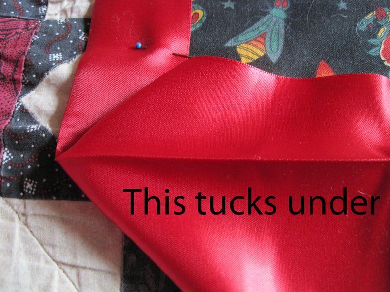 Tuck under