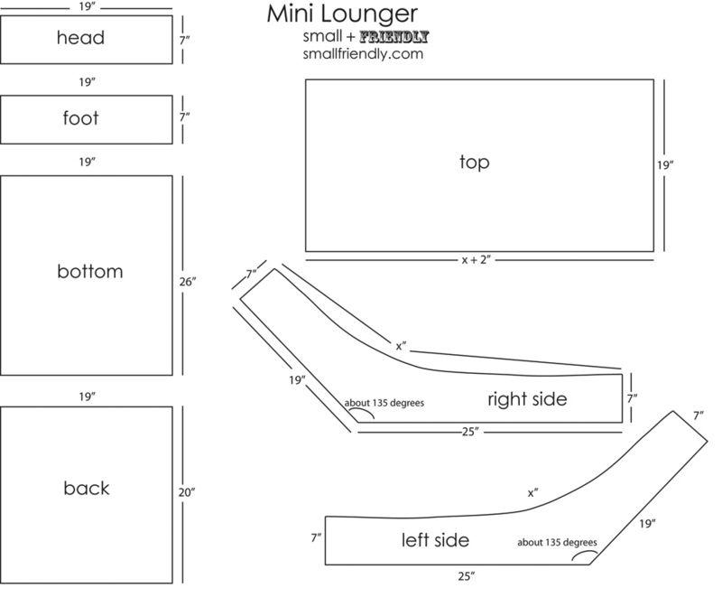 Mini lounger pattern