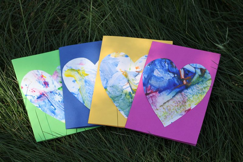 Small Friendly Toddler Art Mother S Day Cards