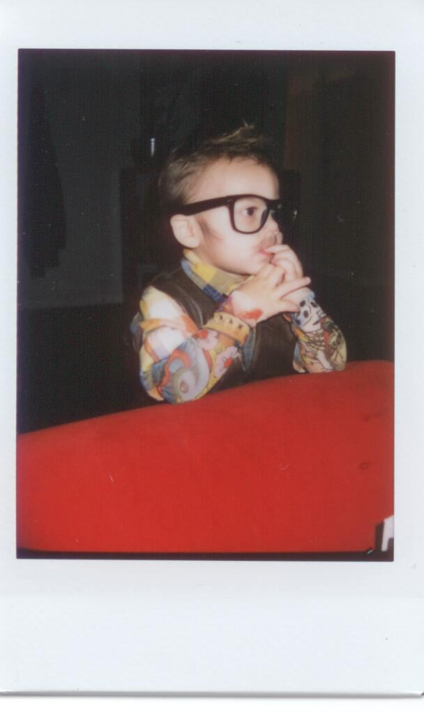 Hipster in thought