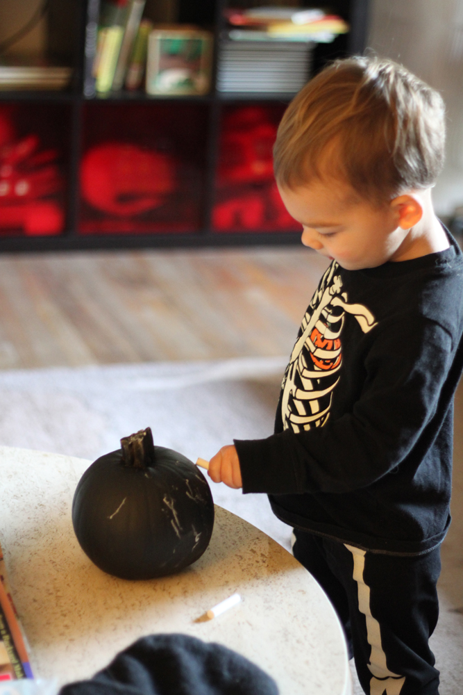 Pumpkin chalkboard