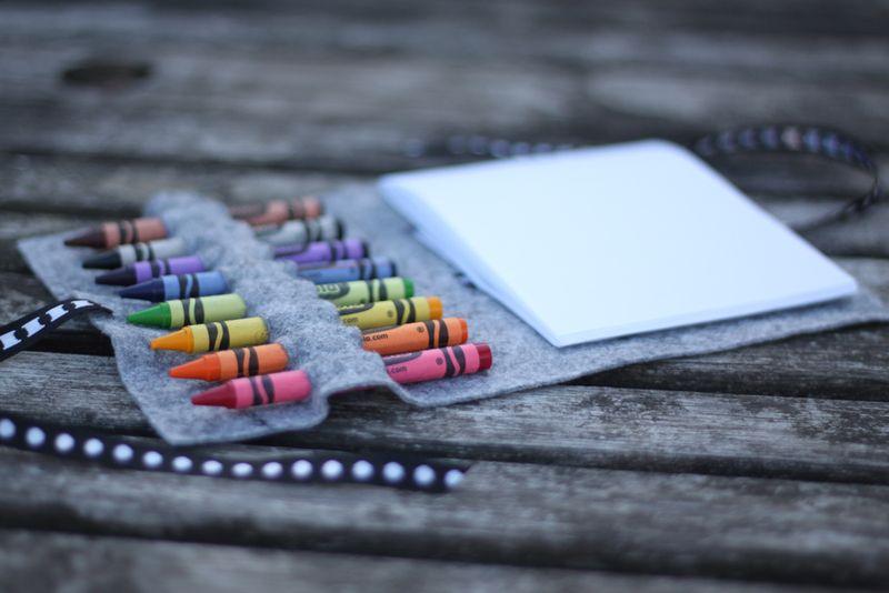 No sew crayon wrap