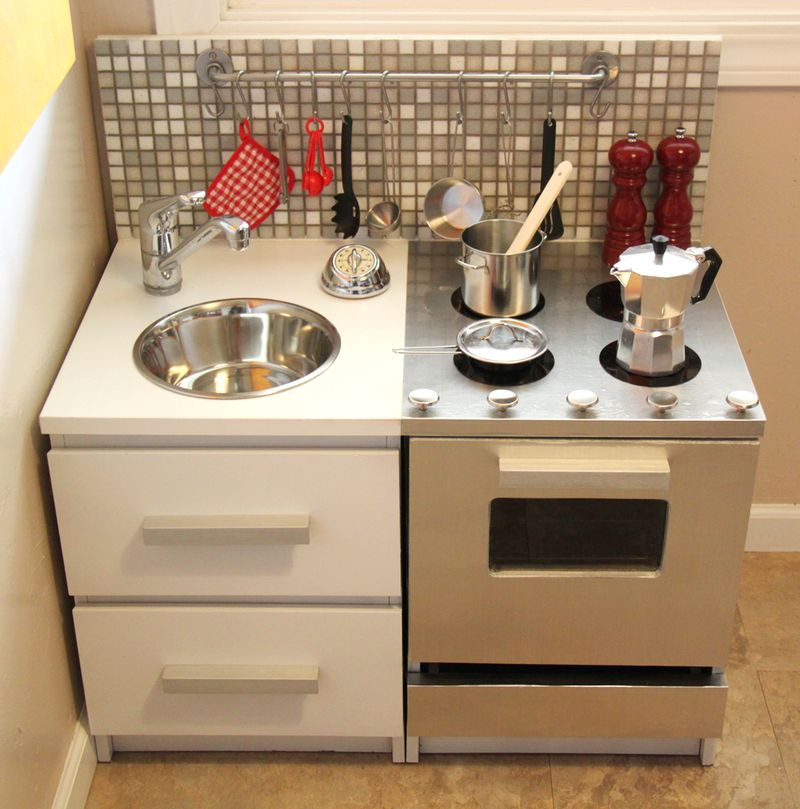 small friendly DIY Modern Play Kitchen