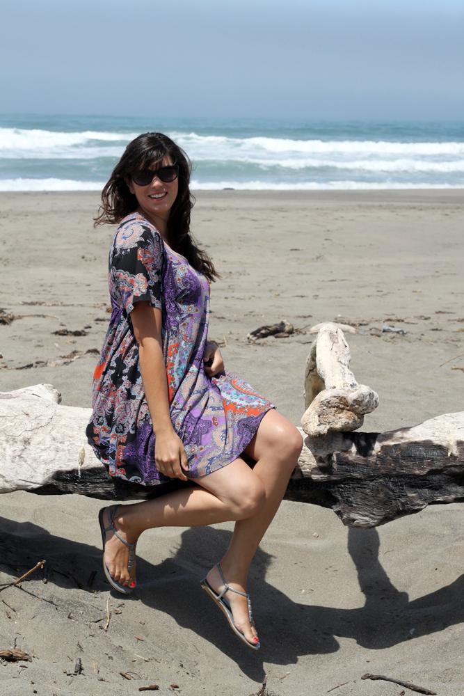 Paloma at the beach
