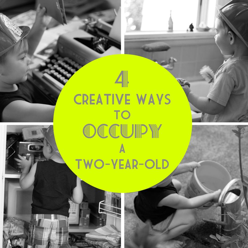 4 creative ways to occupy a two-year-old small + friendly
