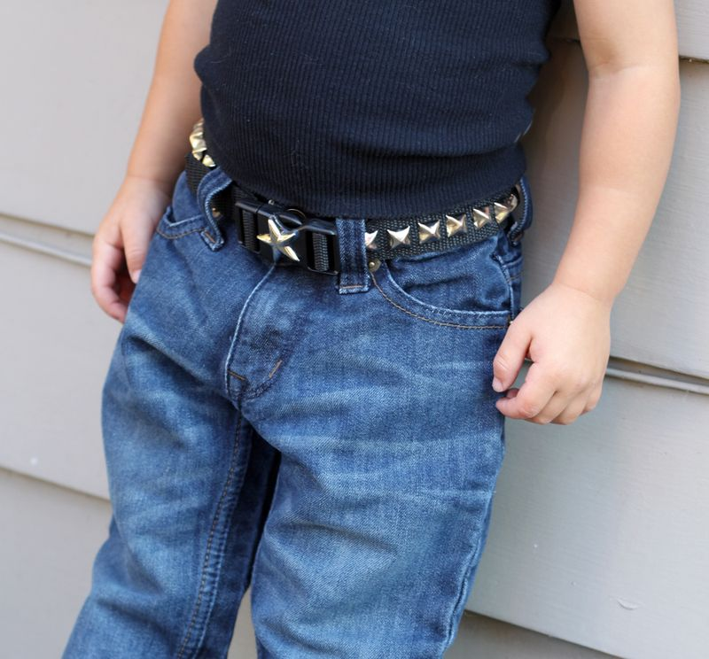Diy toddler belt