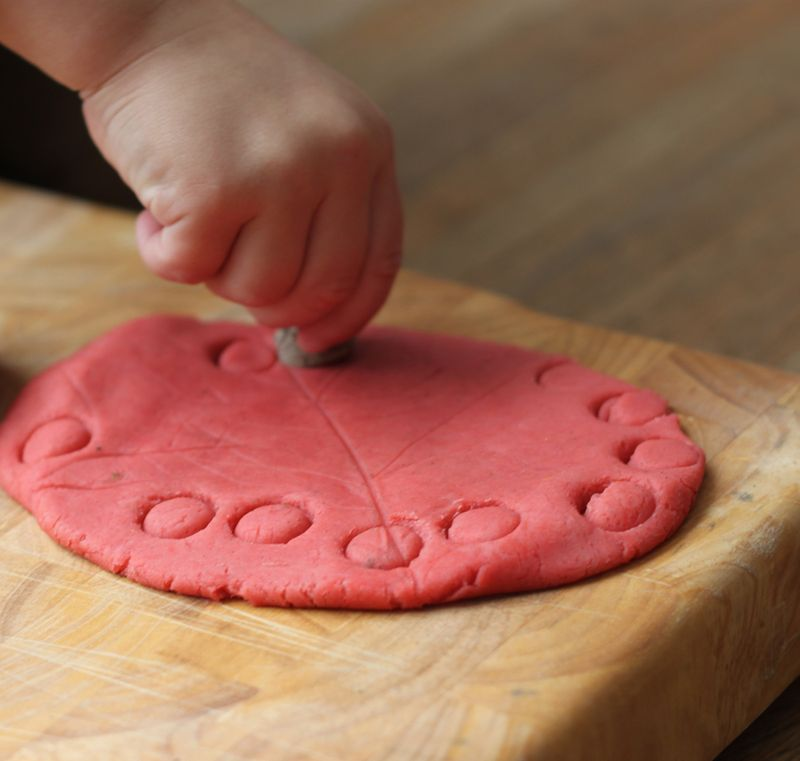 Stamping play dough