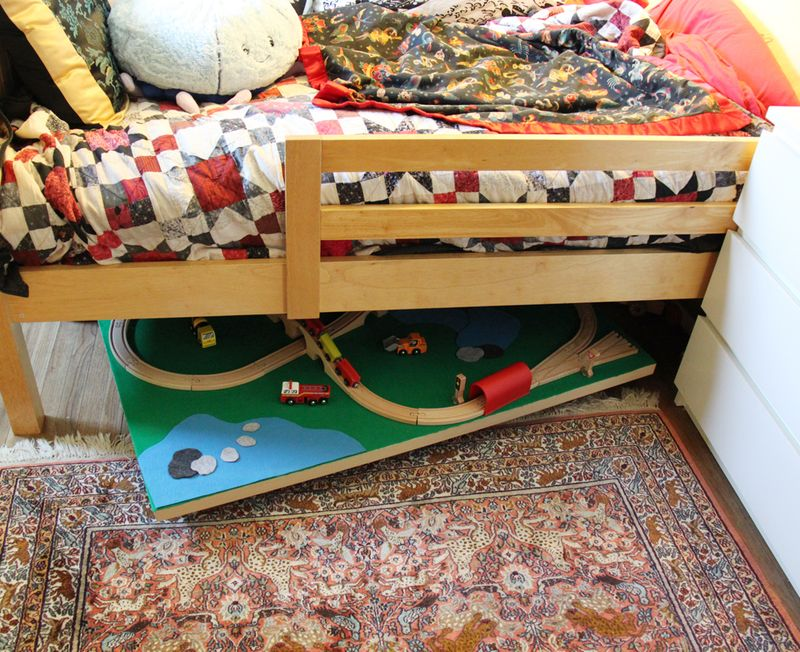 Under the bed train table