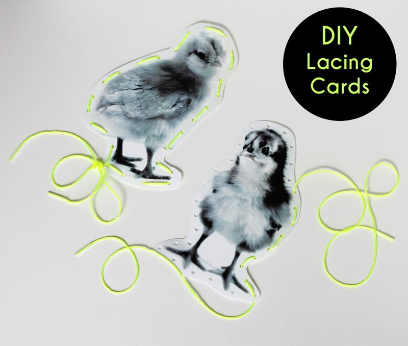 Free printable lacing cards
