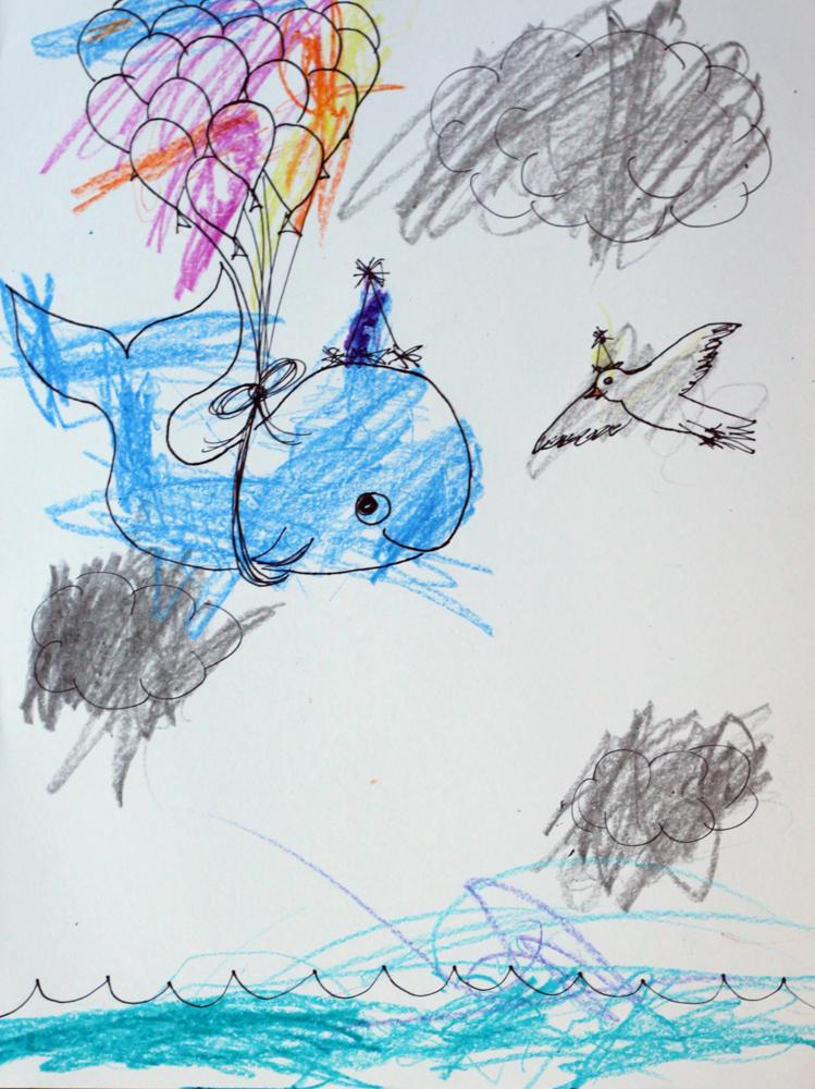 Whale in flight
