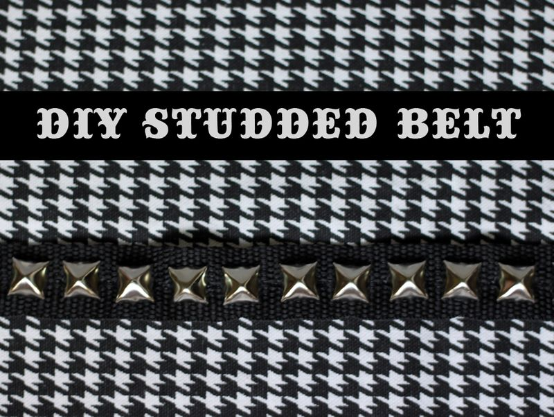 DIY studded toddler belt