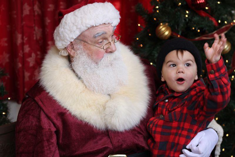 Telling santa a big story