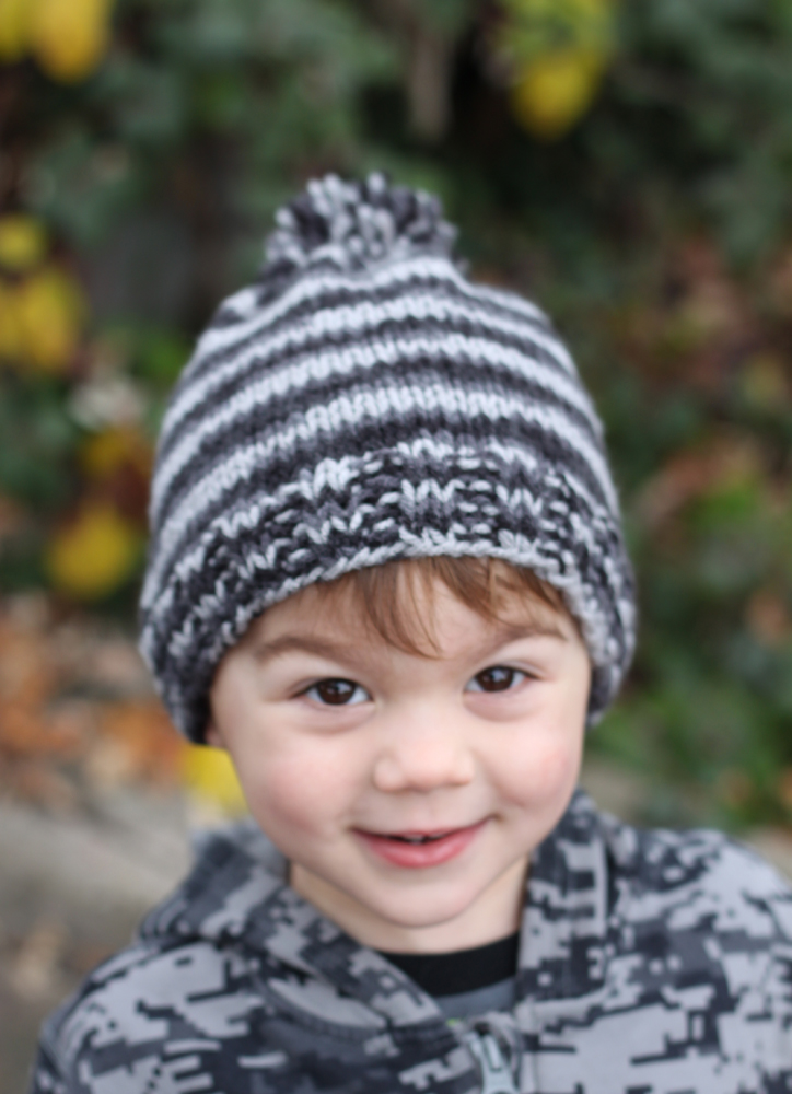 small + friendly: DIY: Simple Knit Hat