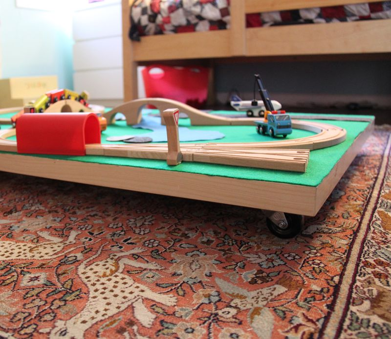 Diy train table under bed