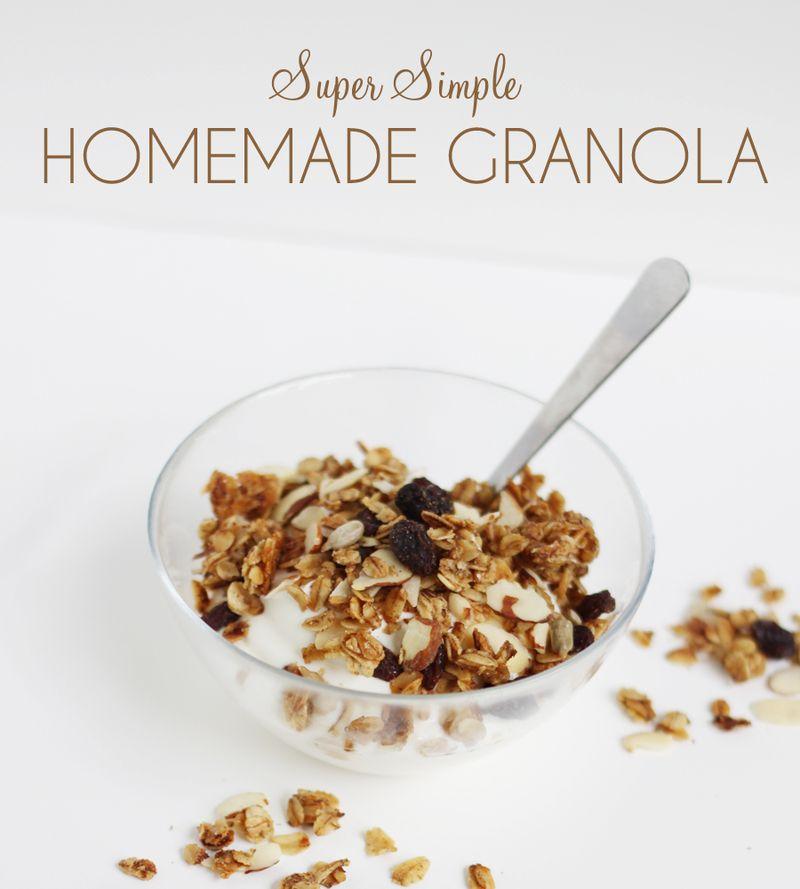 Super simple granola