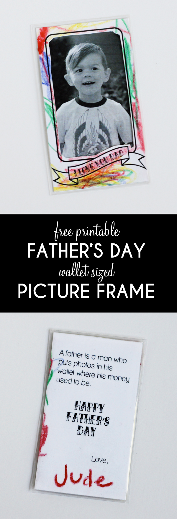 Adorable father's day printable
