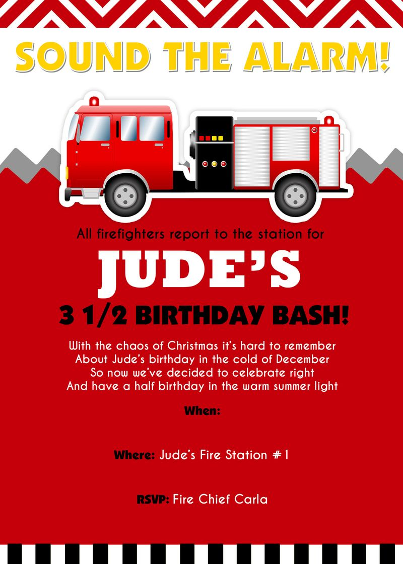 Fireman-party-invitation