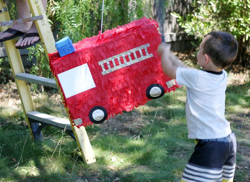 Diy fire truck pinata