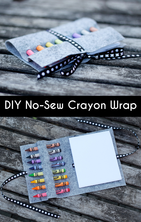 Diy no-sew crayon wrap