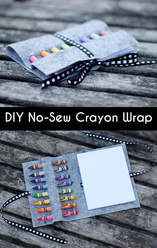 Diy no-sew crayon wrap