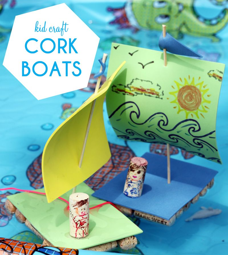 Diy cork boats -- smallfriendly.com