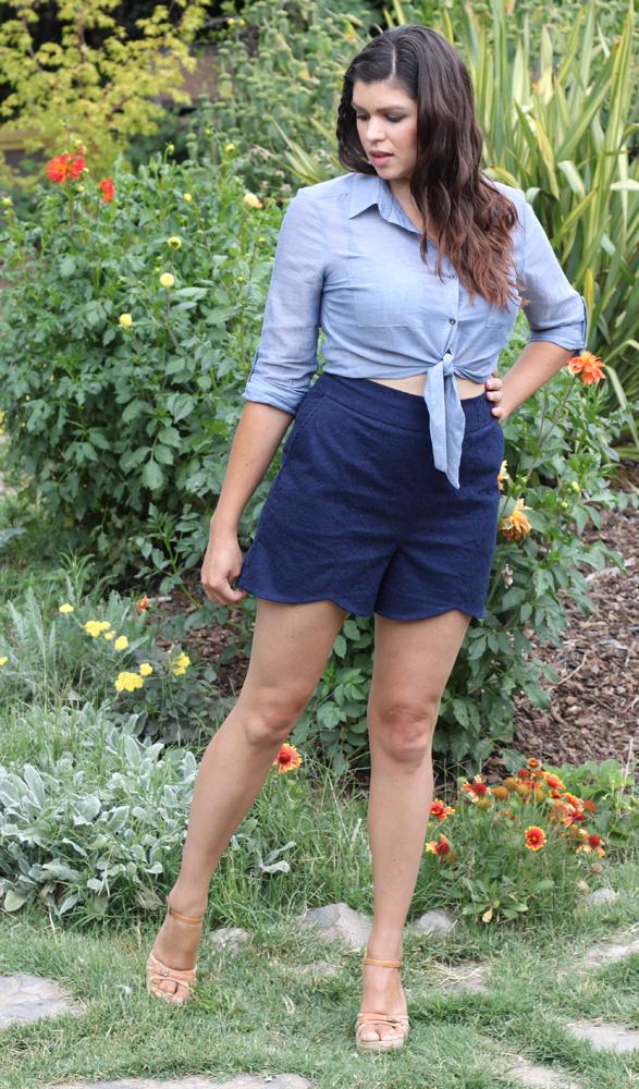 Scalloped shorts ::smallfriendly.com