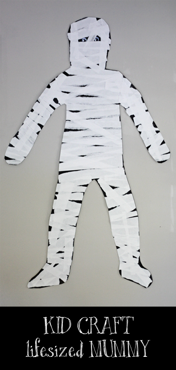 looking for a fun halloween craft that doubles as rad door decor well have i got just the thing for you plus an afternoon of not too spooky craft fun is - Halloween Mummy Crafts