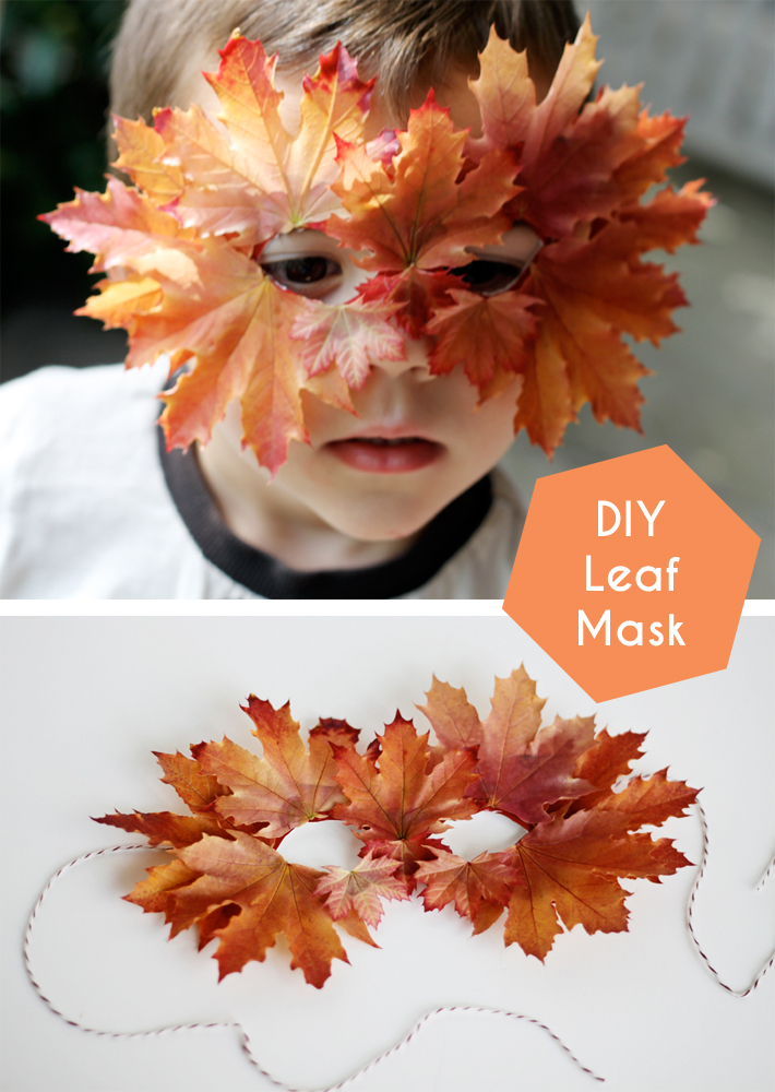 Diy fall leaf mask