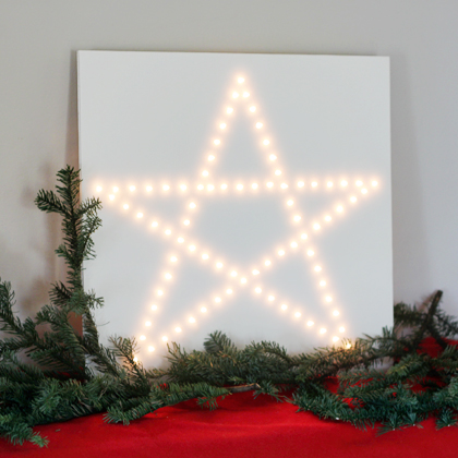 DIY star light christmas decor