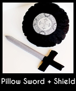 Pillow sword nd shield