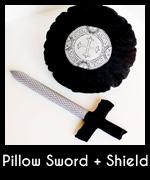 Pillow sword nd shield