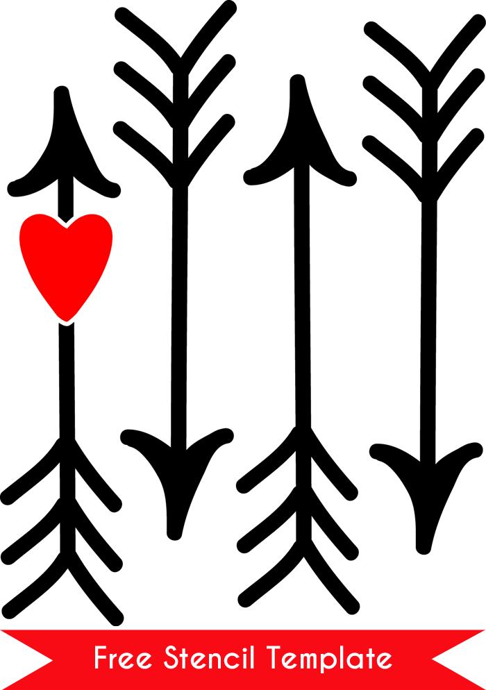 Free-arrow-stencil-template