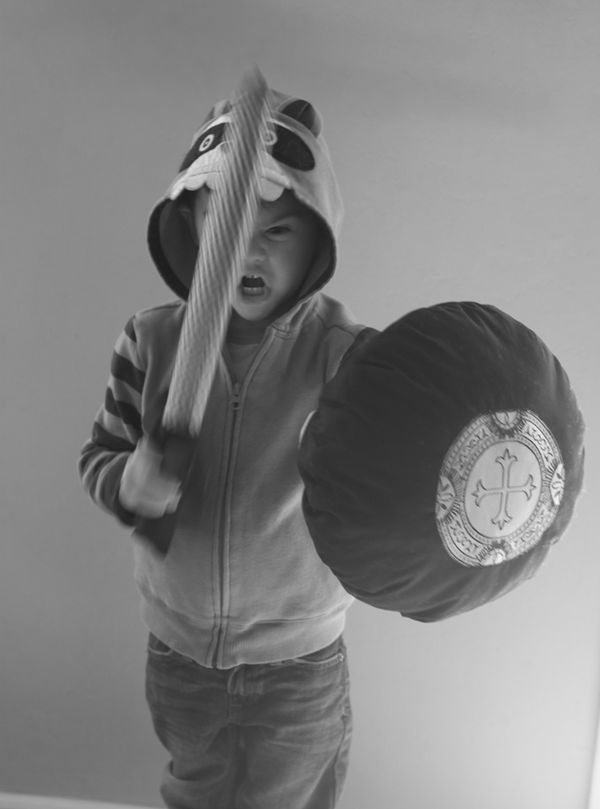 Pillow Fight: DIY Sword and Shield