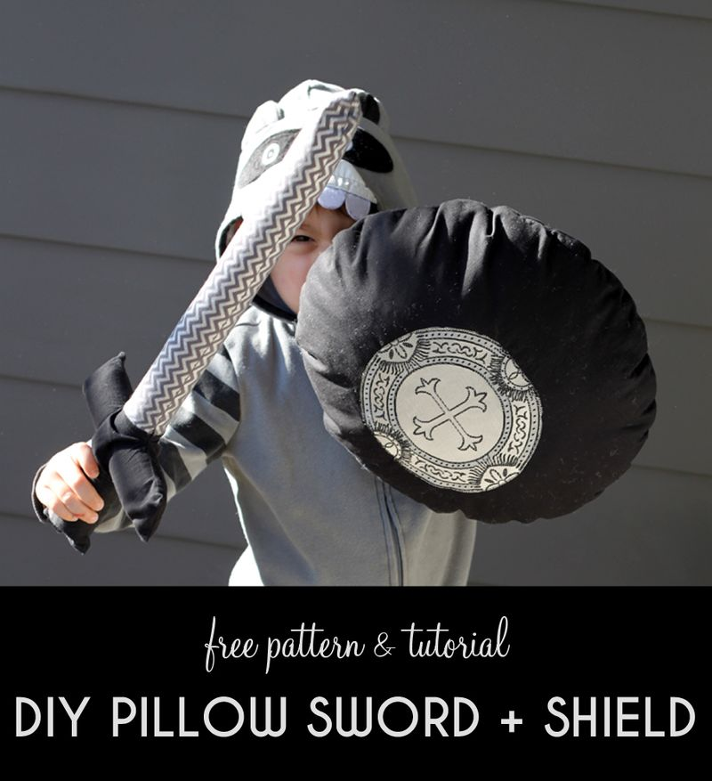 Free pattern pillow sword and shield tutorial