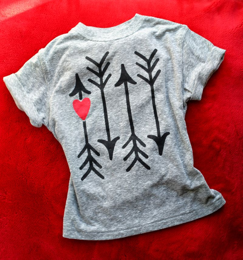 Diy valentine t-shirt