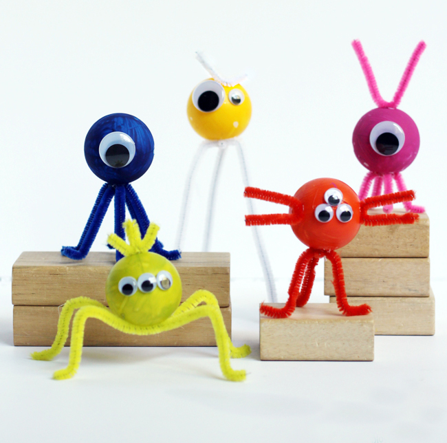 Ping pong ball monsters