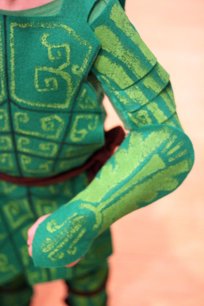 Handmade leafman epic costume