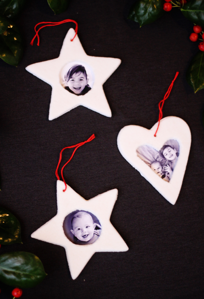 Salt dough picture frame ornaments