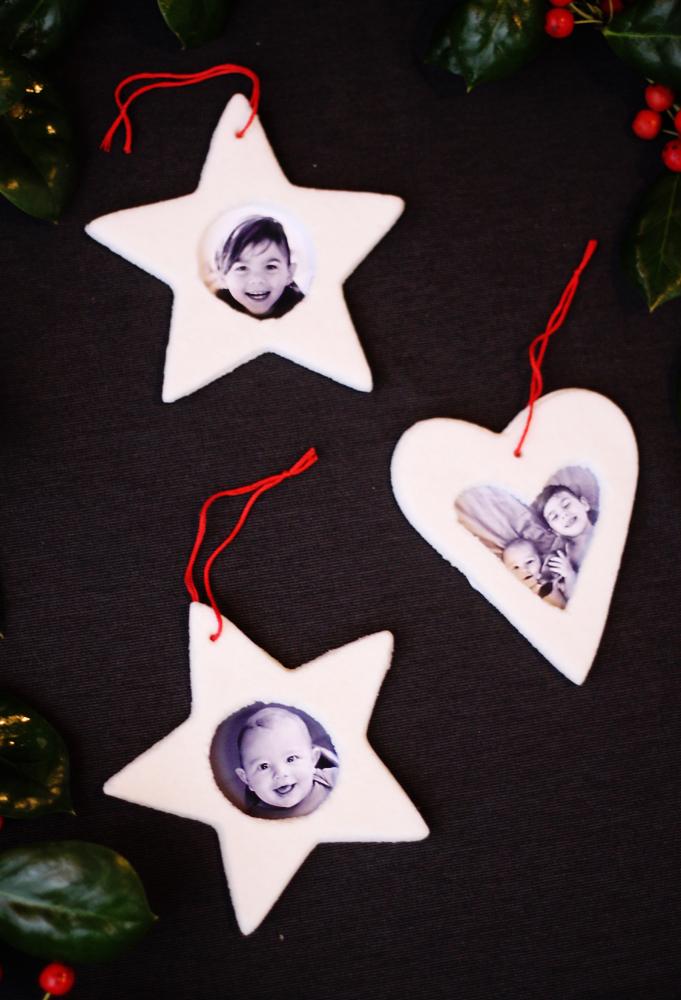 Salt dough picture frame ornaments