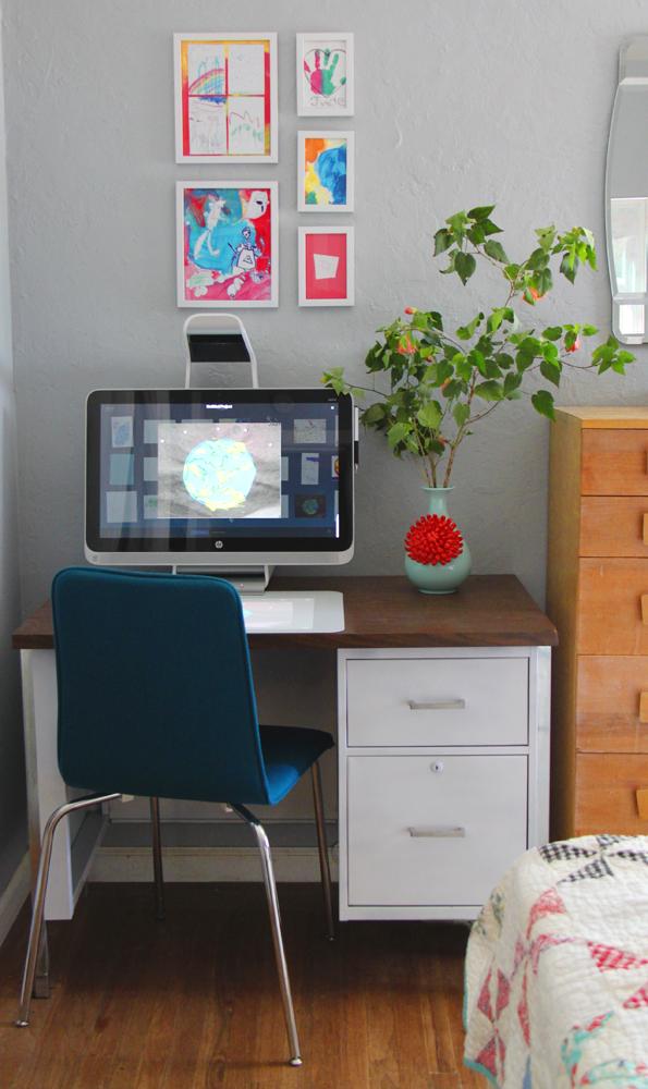 New desk and artwork