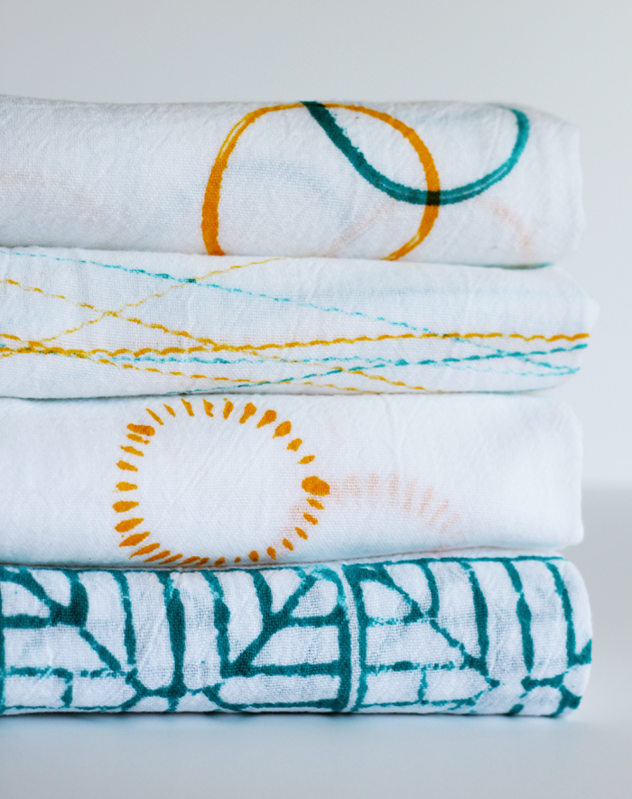 Stamped dishtowels 2