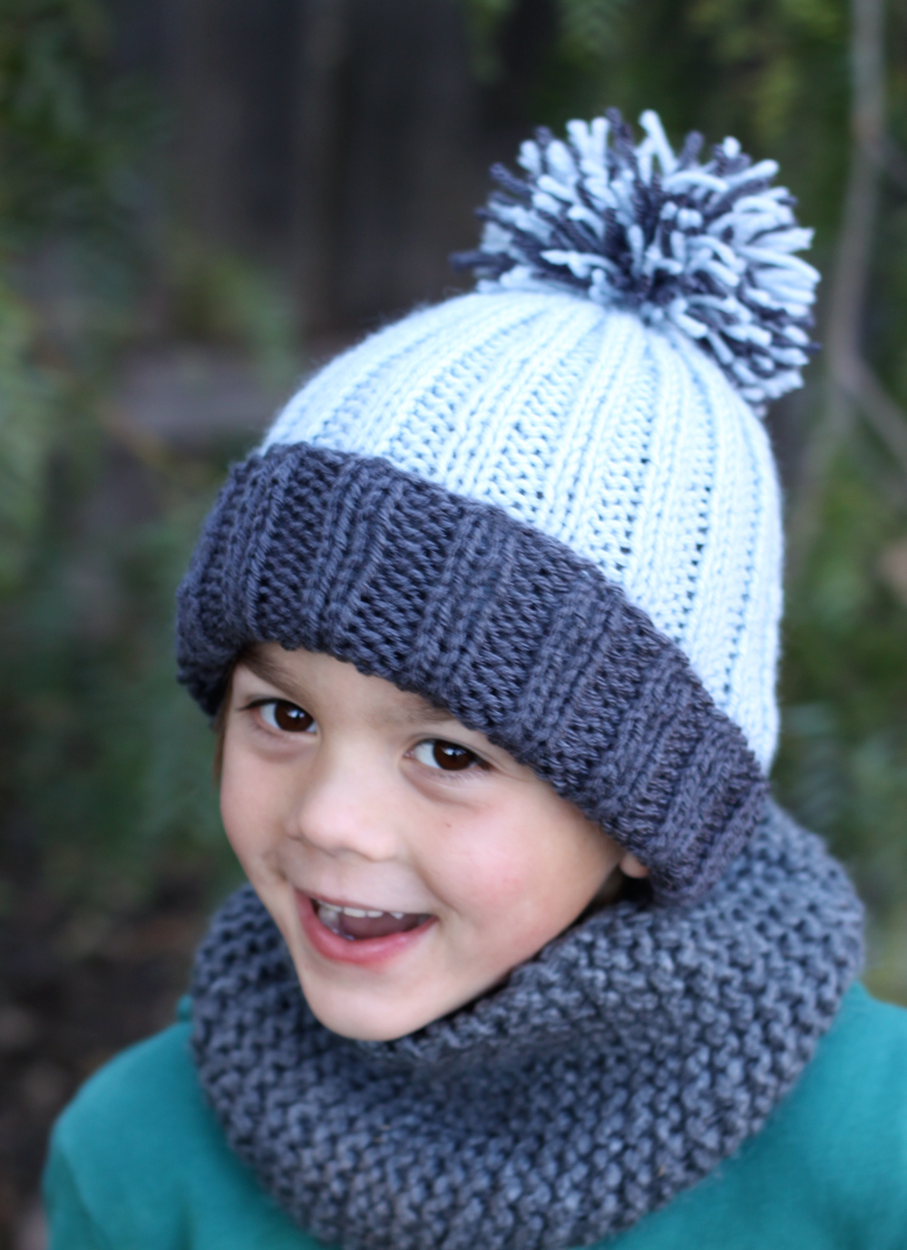 f891b072c60 small + friendly  Free Pattern  Simple Ribbed Knit Hat