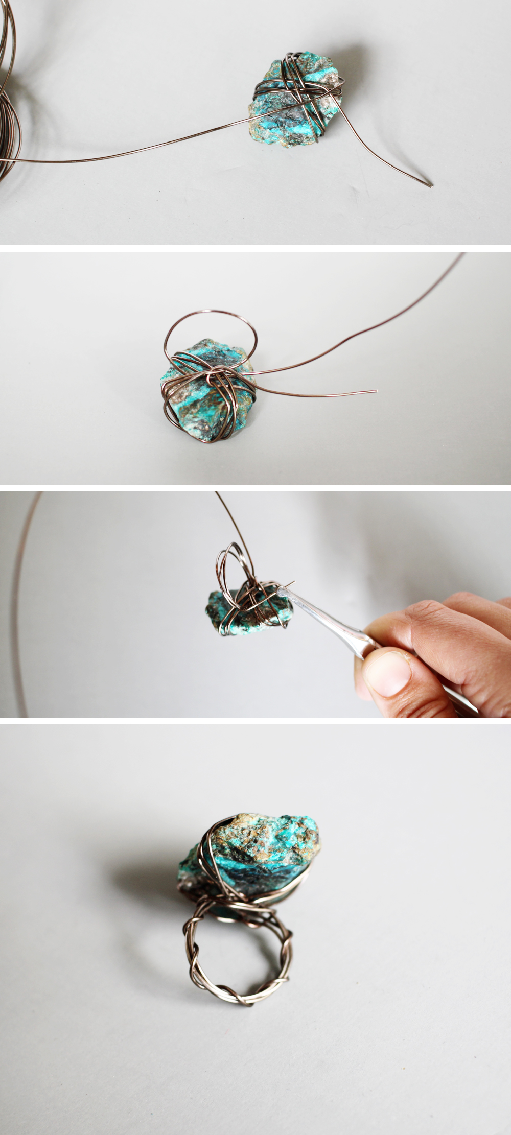 small + friendly: DIY Wire and Stone Jewelry