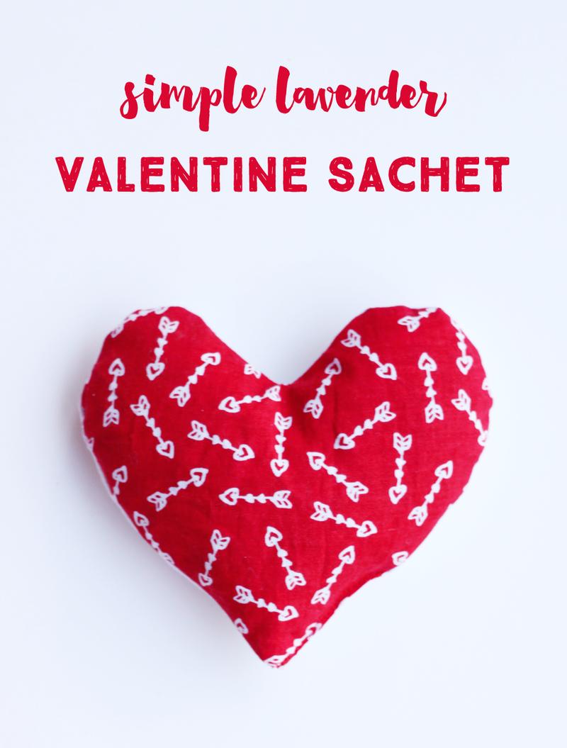 Simple lavender valentine sachet
