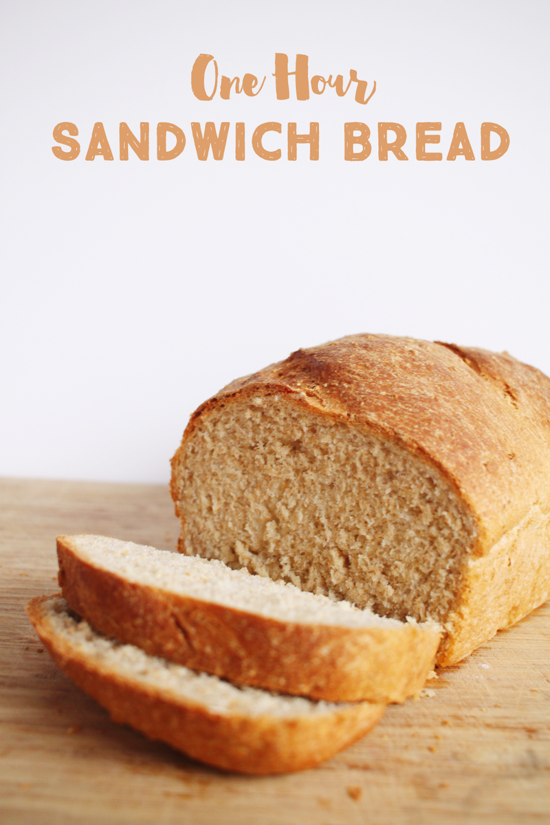 One hour sandwich bread