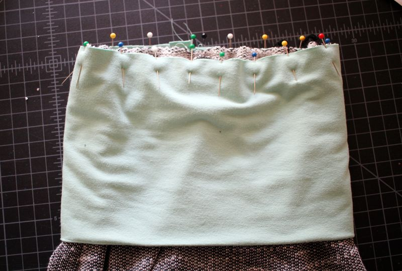 Add a fold over waistband
