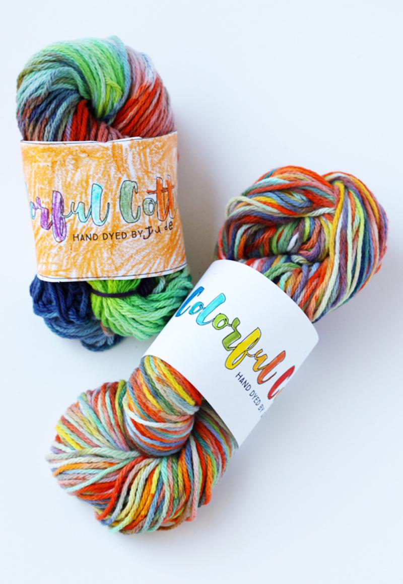 Ice dyed cotton yarn