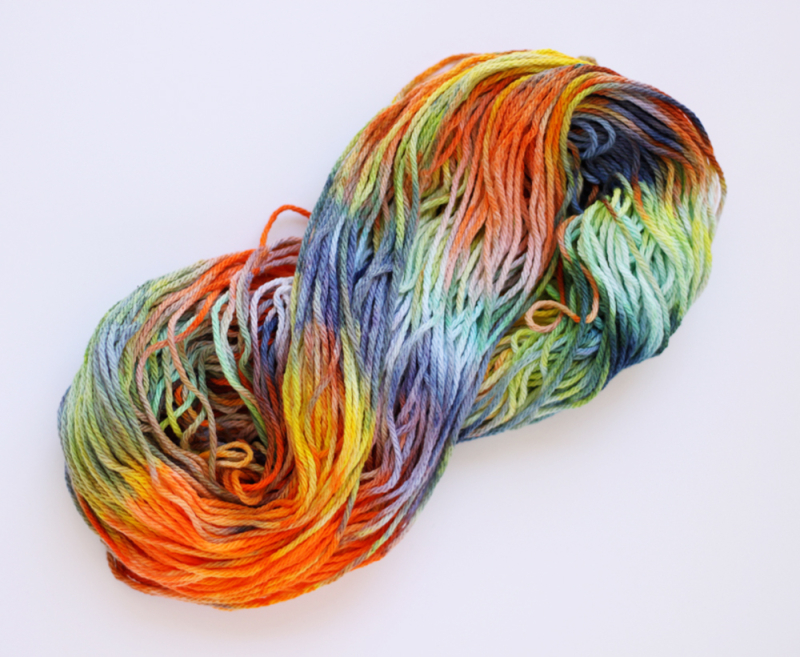 Kid dyed yarn