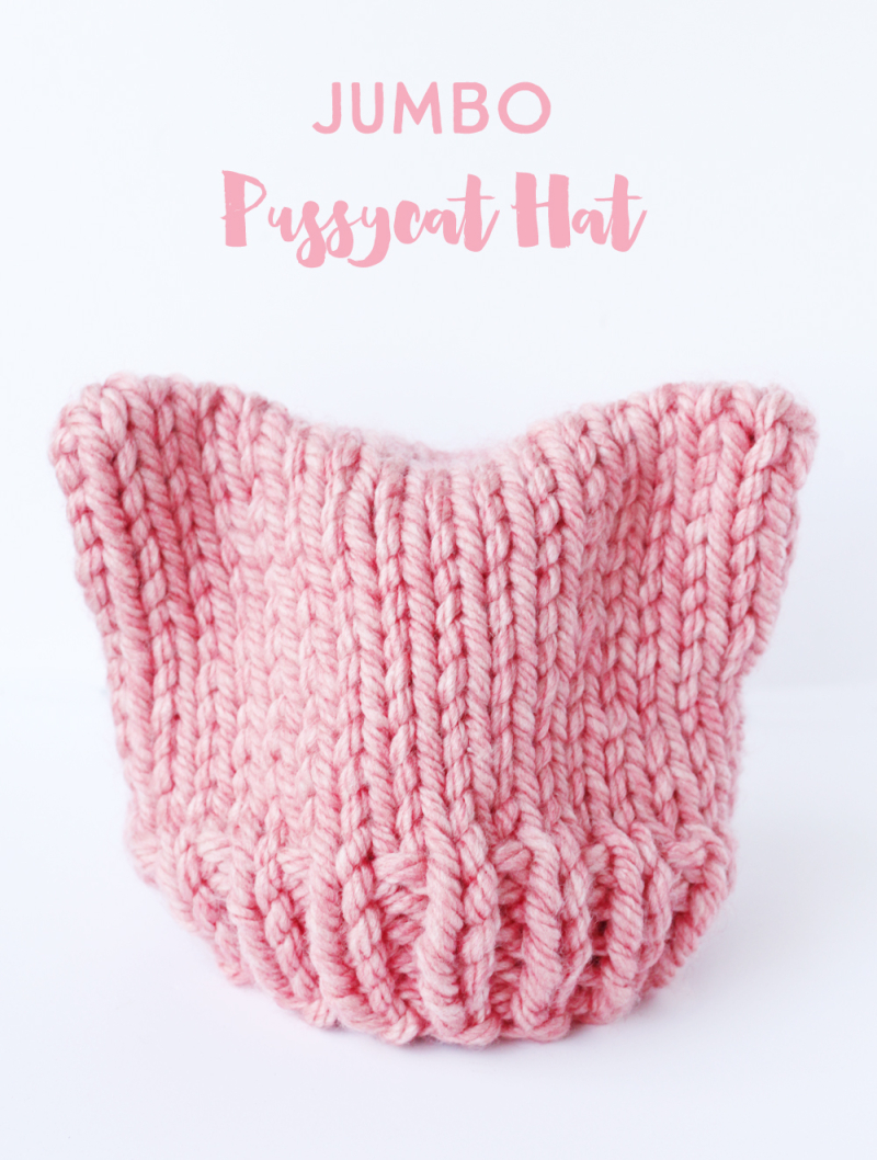 Free cat hat knitting pattern