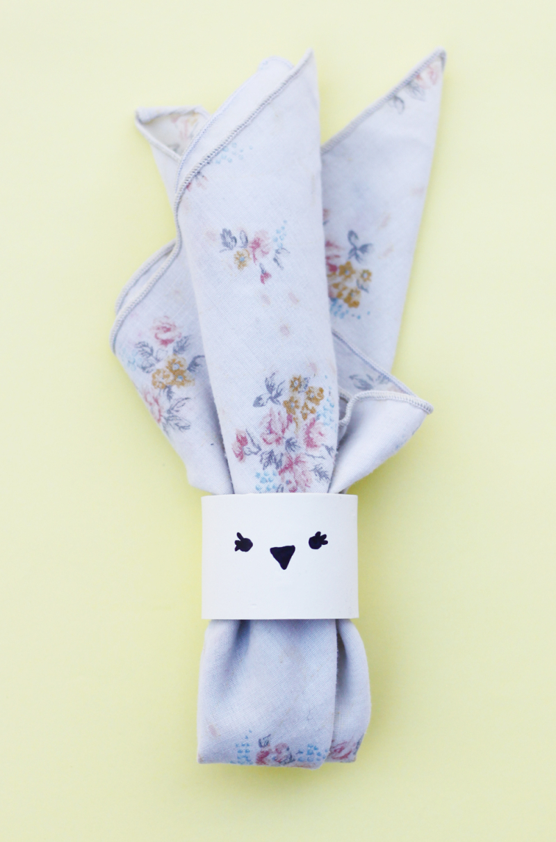 Diy easter napkin ring
